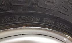 205/r16 rims and tyres for sale. removed from 2005