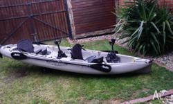 For sale: Hobbie Outfitter Tandem Kayak used 4 times in