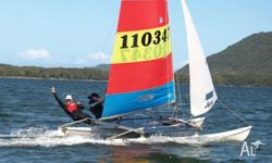 'Wicked' is a Hobie 16 catamaran in great condition.