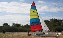 Used Hobie 16 on a trailer complete with Sails, Trapese