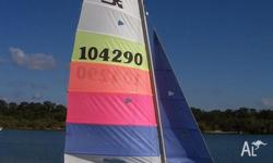 Hobie 16. Sail number 104290. Kept under cover. Sailed