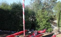 This 2008 Hobie Mirage Adventure Island sail kayak has