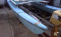 Hobie 16 on unregistered trailer. Main and jib, twin