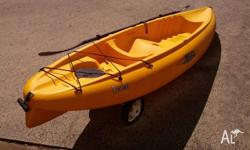 Hobie single seater paddled kayak Weighs about 19 kg so