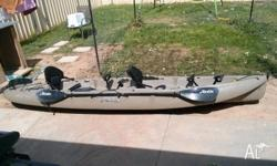 Hobie Mirage Outfitter - 2 person kayak. Used a dozen