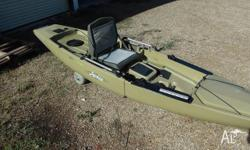 Up for sale is my hobie mirage Pro angler 14 kayak and