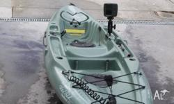 Hobie Outback 2006 model. Olive colour. Pedal