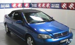 HOLDEN,ASTRA,TS MY03,2002, BLUE, CONVERTIBLE, 2.2L, 5sp