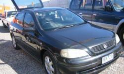 HOLDEN,ASTRA,TS MY2001,2000, Charcoal, SEDAN, 1.8L,