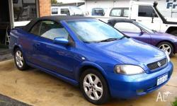 HOLDEN,ASTRA,2002, 2D CONVERTIBLE, 2.2, 4cyl, 5 SP
