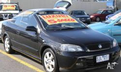 HOLDEN,ASTRA,TS,2002, FWD, BLACK, 2D CONVERTIBLE,