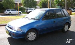HOLDEN, BARINA, 1991, 5dr HATCHBACK, 1.3, 4cyl, 5sp