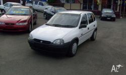 HOLDEN, BARINA, SB, 1996, FWD, White, Grey trim, 5D