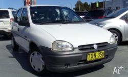 HOLDEN,BARINA,SB,1996, FWD, WHITE, GREY CLOTH trim, 5D