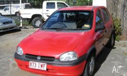 HOLDEN,BARINA,SB,1997, FWD, RED, GREY trim, 5D