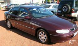 HOLDEN, BERLINA, VT, 1998, RWD, Burgundy, GREY trim, 4D