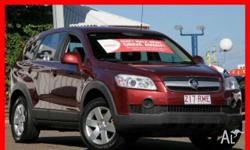 HOLDEN,Captiva,CG,2006, 4X4 On Demand, Maroon, 4dr