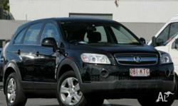 HOLDEN,CAPTIVA,CG,2007, 4x4, Black, BLACK trim, 4D