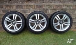 "Set of 3 Holden Commodore VE SV6 18"" X 8"" Mag Wheels &"