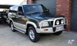 HOLDEN, JACKAROO, U8, 1999, 4WD, GREEN, GREY trim, 4D