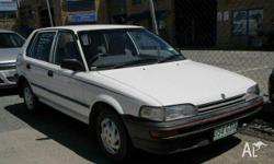 HOLDEN, NOVA, 1993, FWD, White, GREY trim, 5D