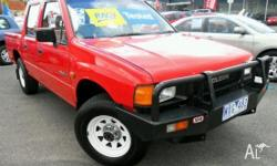HOLDEN,Rodeo,1988, 4X4, Red, 4dr Dual Cab Utility,