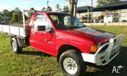 HOLDEN,RODEO,1990, 4X4, RED, C/CHAS, 2499cc, 4cyl,