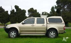 HOLDEN,RODEO,RA MY06 UPGRADE,2006, 4x4, GOLD, CREW CAB