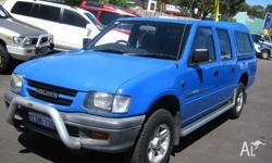 HOLDEN, RODEO, 1999, CREW CAB P/UP, 3.2, 6cyl, 5sp