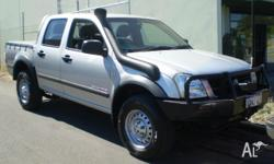HOLDEN,RODEO,RA,2003, 4x4, SILVER, CREW CAB P/UP,