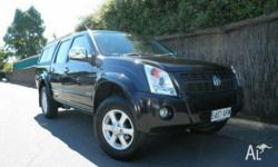 HOLDEN,RODEO,RA MY07,2007, 4x4, Black, CREW CAB P/UP,