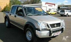 HOLDEN, Rodeo, RA, 2003, 4X4, Gold, 4dr Dual Cab