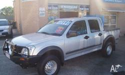 HOLDEN,RODEO,RA,2003, RWD, SILVER, CREW CAB P/UP,