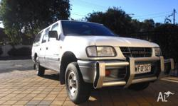 HOLDEN, RODEO LX TFR9, 1999, RWD, White, CREW CAB P/UP,