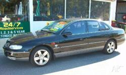 HOLDEN, STATESMAN, WHII, 2002, RWD, BLACK, 4D SEDAN,