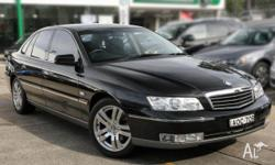 HOLDEN,STATESMAN,WK,2003, RWD, BLACK/ GREY LEATHER, 4D