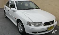 HOLDEN,VECTRA,JSII,1999, FWD, WHITE, GREY trim, 5D