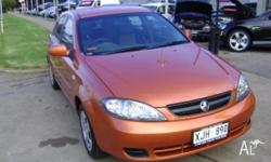 HOLDEN,Viva,JF,2005, Front Wheel Drive, SUNSET ORANGE,