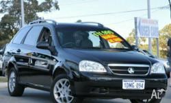 HOLDEN,VIVA,JF MY08 UPGRADE,2007, FWD, Black, 4D WAGON,