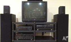 JVC Home Audio Entertainment Centre. Package includes