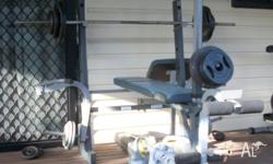 Home Gym with Lat Pulldown and Preacher for Bi-cep