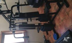 For sale is my Home Gym 4 station and in very good