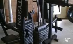 Multi station full body workout home gym with 2 x