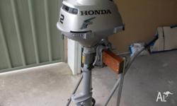 immaculate Honda 2 hp 4 stroke , short