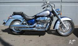 HONDA,750CC,2009, CRUISER, .7, 2cyl, 5sp MANUAL,