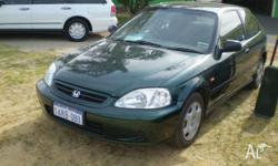HONDA,CIVIC,2000, FWD, GREEN, 3D HATCHBACK, 1590cc,