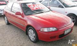 HONDA, CIVIC, 1994, FWD, Red, 3D HATCHBACK, 1493cc,