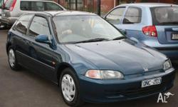 HONDA, CIVIC, 1994, FWD, BLUE, 3D HATCHBACK, 1493cc,