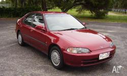 HONDA, CIVIC, 1995, FWD, METALLIC BURGUNDY, 4D SEDAN,