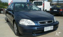 HONDA, CIVIC, 1996, Blue, Grey trim, SEDAN, 1.8L,